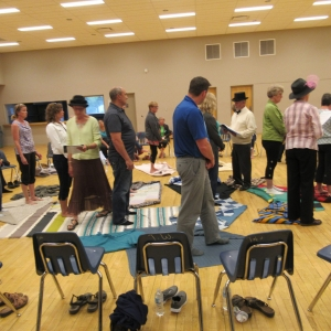 May 30, 2018  Kairos Blanket Exercise - Watrous -  Beginning of the Exercise