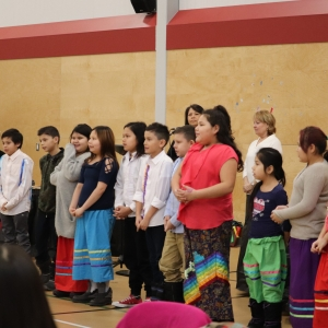 Feb 6, 2020 O-Canada-in-Cree-Almightyvoice-Education-Centre-Students