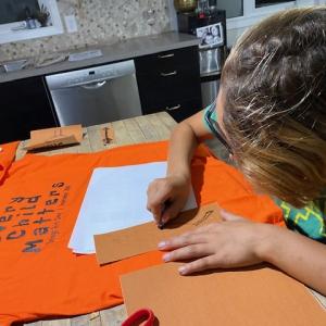CEDP 20-21 Silton Orange Shirt Day/Every Child Matter Print-Making-Workshop-3